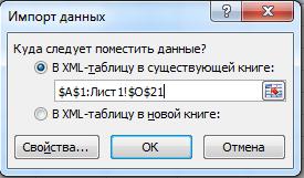 Импорт данных.