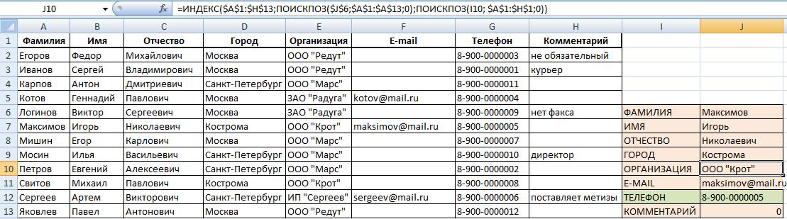 Скачать шаблон телефонного справочника