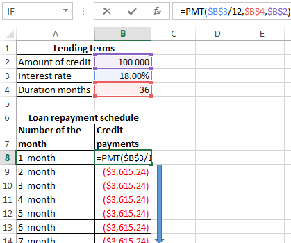 line of credit calculator excel