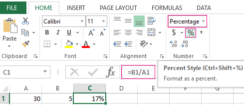 how to take percentage off in excel
