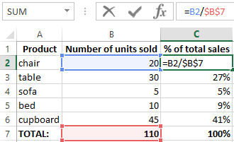 how to take out percentage in excel