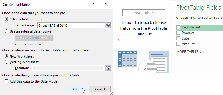 Creating the Excel consolidated Pivot Table from multiple sheets – Create Pivot Table from Multiple Worksheets