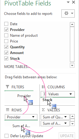managing pivot tables in excel