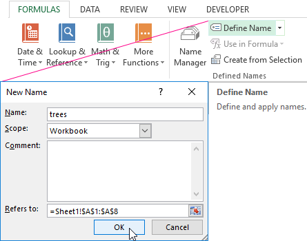 Creating a drop-down list in Excel using tools or macros