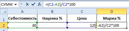 Формула расчета маржи в процентах [PUNIQRANDLINE-(au-dating-names.txt) 68