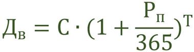 формулы для расчета доходности.