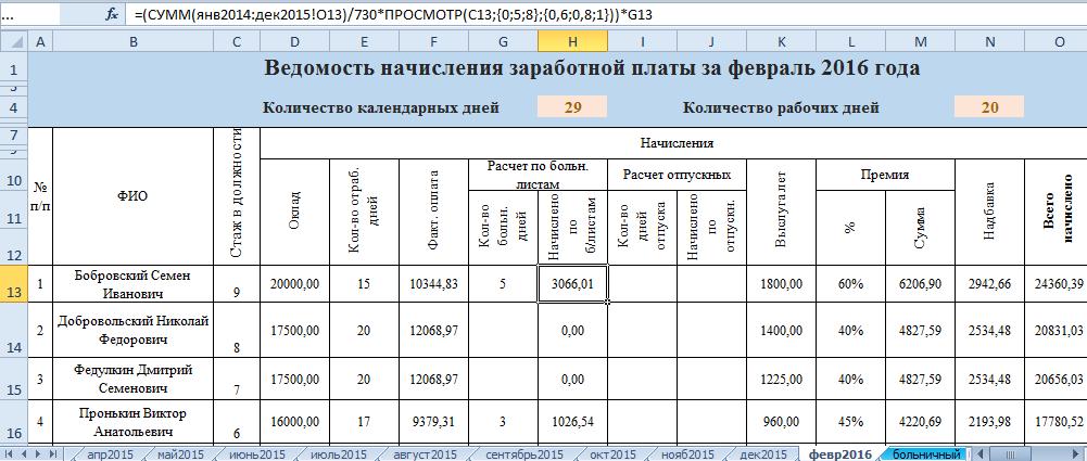 выплата зарплаты по больничным листам: