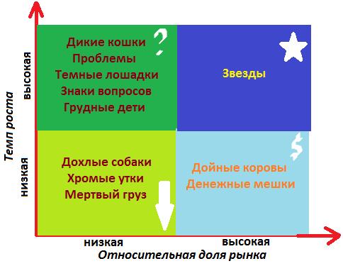 Пример матрицы БКГ.