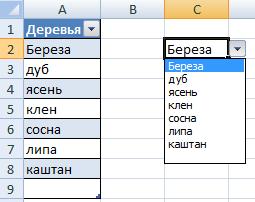 Список и таблица.