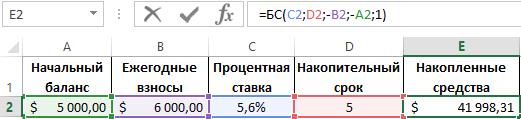 функция БС.